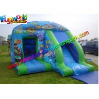 Quality Blue Inflatable Bouncer Slide , Water - Proof Kids Outdoor Inflatable Slides wholesale