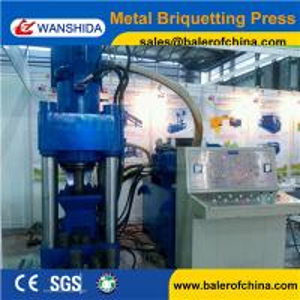 China China Wanshida Y83-3150 aluminum Cast iron copper Chips sawdust Briquetting Press on sale
