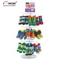 Quality Footwear Shop Metal Display Racks , Rotating Table Top Sock Display Rack wholesale