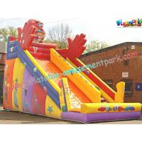 Quality KidsLarge Commercial Durable  PVC tarpaulin Inflatable Slide Safety for Rent, Resale wholesale