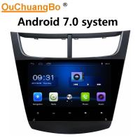 China Ouchuangbo auto radio capacitance multiple android 7.0 stereo for Chevrolet Sail 2015 with BT USB wifi video dual zone on sale
