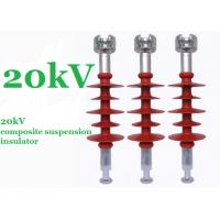 Buy cheap Red 20kV Polymer Suspension Insulators Minimum Creepage Distance 750mm product