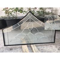 Quality Float Tempered Decorative Panel Glass For Architectural Door Flat Edge wholesale