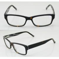 Quality Hand Made Black / Brown Cool Acetate Mens Eyeglasses Frames For Promotion wholesale