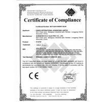 GANDO INTERNATIONAL (HONGKONG) LIMITED Certifications