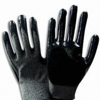 Quality Safety Gloves with Nitrile Palm Coat, Available in Various Sizes wholesale
