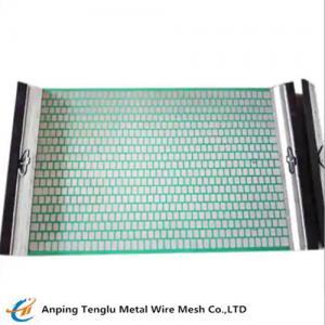 Hook Strip Flat Screen  Oil Drilling Vibration Mesh Mud Mesh