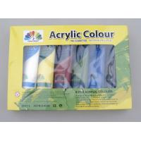 Quality 6 X 75ml Acrylic Paint Tubes Acrylic Paint Starter Colors Set For Wood / Paper / Glass wholesale