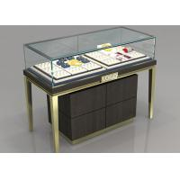 Cheap Custom Jewelry Display Cases With Sliding door / Pull Out Door for sale