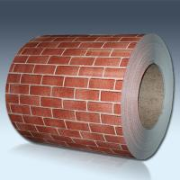 China Brick Pattern Color Coated Steel Coil For Exterior Wall Panels ISO Approval on sale
