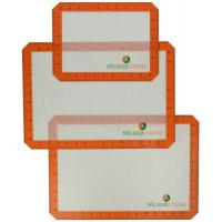 Quality 3 Pack Silicone Baking Mat Non Stick Cookie Sheet Oven Liners wholesale