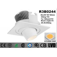Quality New Module 7w Recessed 2700-3000K Adjustable Aluminum White Dim IP20 LED Downlights wholesale