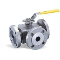 Cheap Flange Type Hand Manual 3 Three Way Stainless Steel Ball Valve L Port T Port for sale