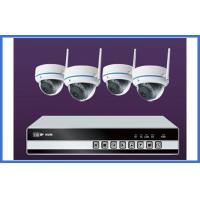 Quality 4 Channel Wireless IP Kit Indoor Dome Cameras Support Mobile Monitor wholesale