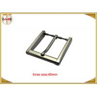 Quality 40mm Square Zinc Alloy Custom Metal Belt Buckles With CNC Engraved Logo wholesale