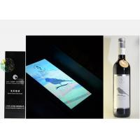 China Silver Foil Embossed Wine Label Stickers , Custom Wine Bottle Labels For Security Mark on sale