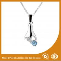 40mm Zinc Alloy Metal Chain Necklace & Pendant Nickel Roller Plating