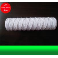 China 10 Inch Water Filter Cartridge White PP Yarn String Wound Filter Cartridge on sale
