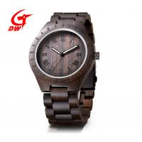 Quality Water Resistant Retro Chronograph Watches Ebony Wristwatch Customized Logo wholesale