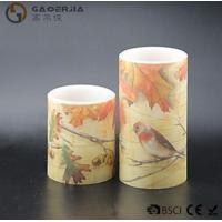 Quality Eco Friendly Birds Paradise Water Sticker Flameless Led Candles With Flat Edge wholesale
