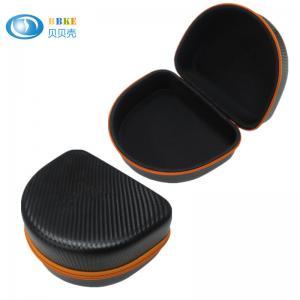 China Black Color EVA Headphone Case For Audio Technical , Shockproof EVA Foam Case on sale