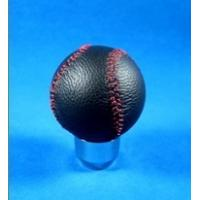Quality Novelty Red Line + Black Real Leather Front Racing Gear Knob Ball Shape wholesale