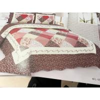 Quality Imitated Patchwork Home Bed Quilts Brown Color Widely In Home Bedding wholesale