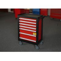 China 27 Metal Garage Red Heavy Duty Tool Cabinet On Wheels With 7 Drawers on sale