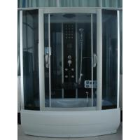 Quality 85 X 170 X 220 / cm Complete Shower Enclosures with tray fiberglass reinforced Matt chrome Color wholesale
