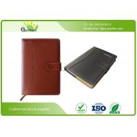 Quality A4 / B5 / A5 Custom Embossed Notebook , Recycled Materials Personalised Leather Notebook  wholesale