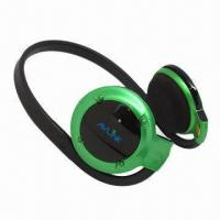 Quality Small Bluetooth Wireless Stereo Headphones with Microphone, 2.402 to 2.480GHz Frequency wholesale