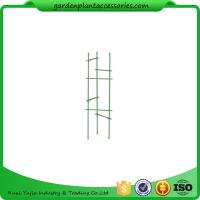 "Quality Durable Steel Garden Plant Supports / Grow Through Plant Supports Plastic Coated 11"" W x 35"" H overall wholesale"