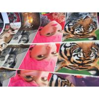 Quality 100% Polyester Digital Printing Fabric Plain Style 75D * 75D Yarn Count For Curtain wholesale