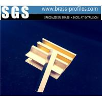 China Strong Brass Profiles Mirror Polish Brass Window And Door Frame on sale