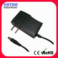 Quality High efficiency 12V AC DC Power Adapter 2 Flat Pin Plug for CCTV security wholesale