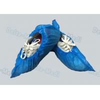 Cheap Personal Care Breathable Disposable Surgical Shoe Covers CPE / PE Material for sale