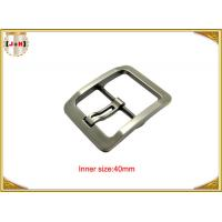 Quality Silver Plated Zinc Alloy Pin Metal Belt Buckle For Men / coat Belt Buckle Replacement wholesale