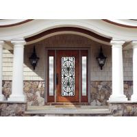 Quality Personal Style Spray Coating Wrought Iron Glass Door With Hot Dipfabricated wholesale
