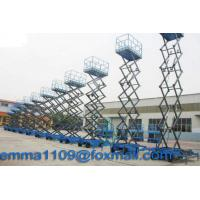 China 4m to 18m SJY Scissor Working Platform Load 300kg to 1000kg Mobile Type Power Control on sale