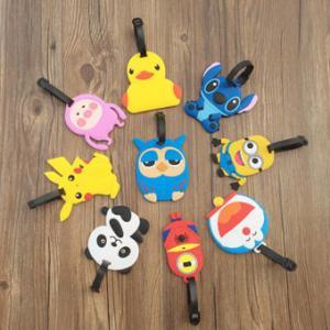 China Cartoon Character 3D PVC Luggage Tag With Custom Company Or Team Logo on sale