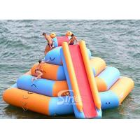 China Double lane slide inflatable water tower sport game with 0.9mm pvc tarpaulin on sale