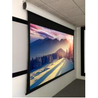"""Quality Custom Tab Tensioned Motorized Screen , 106"""" projection screen wholesale"""