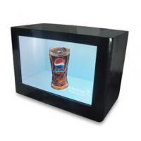 China Digital Signage LCD Video Wall Advertising Transparent Touch Screen Monitor Showcase Box on sale