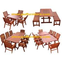 China Garden furniture outdoor table wooden patio chair on sale