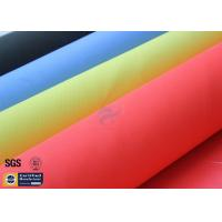 "Quality 0.43MM Acrylic Fiberglass Fire Blanket Fabric Red 3732 17OZ 39"" Heat Resistant wholesale"