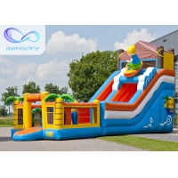 Quality 6.5m Beach Water Jumping 4 In 1 Inflatable Water Slides wholesale