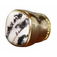 Buy cheap Unique Design Gold color Metal Zamac Perfume Bottle caps cover with stone from wholesalers