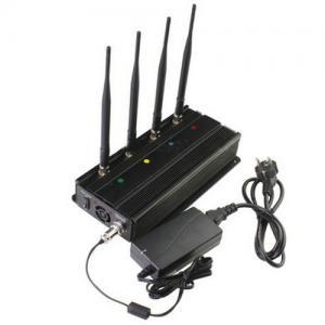 Cheap Vehicle Mounted Desktop 4 Antenna Mobile Phone 3G GSM CDMA Jammer W/ 10 Watt & 40M Range for sale