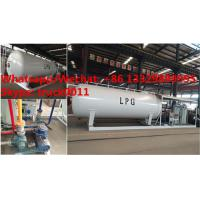 Quality customized mobile skid propane gas refilling station with 4 digital weighting scales for sale, skid lpg gas plant wholesale
