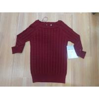 Quality Boat Neck Muscle Fit Ladies Pullover Sweaters Reglan Sleeve Cable wholesale